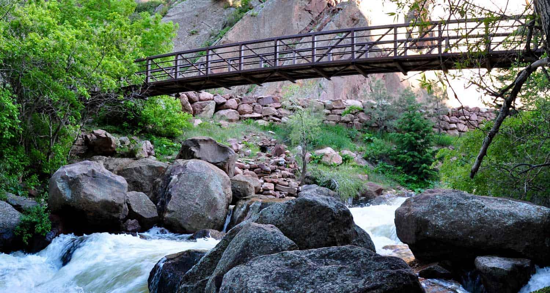 Streamside Trail Bridge in Eldorado Canyon State Park
