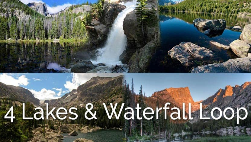 Four Lakes and Waterfall Loop Hike in Rocky Mountain National Park