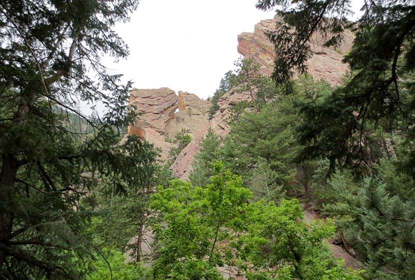 flatirons through bluebell canyon on royal arch trail