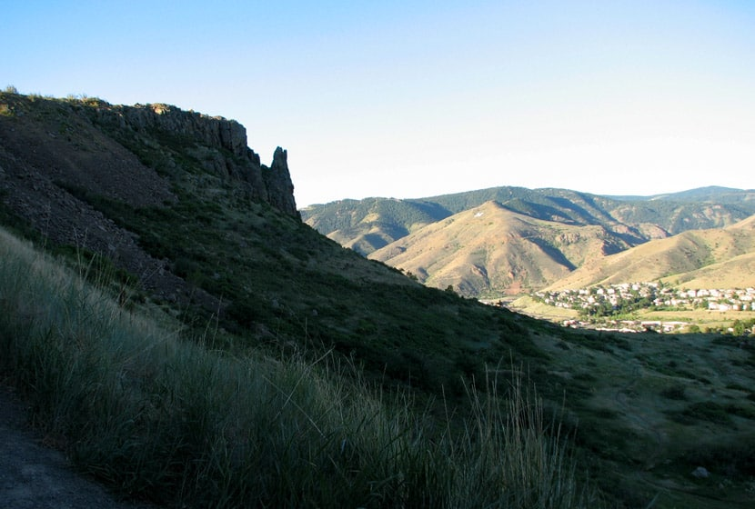 north table mountain west side looking toward golden colorado