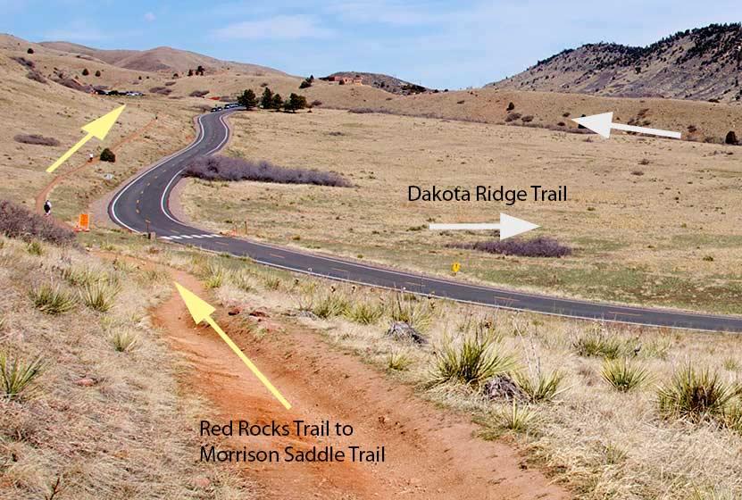 red rocks trail split