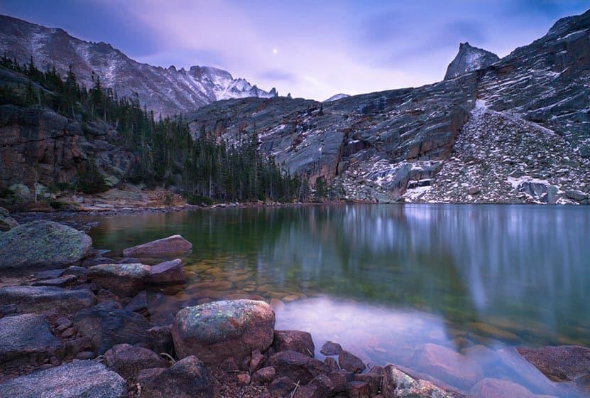 black lake rocky mountain national park header