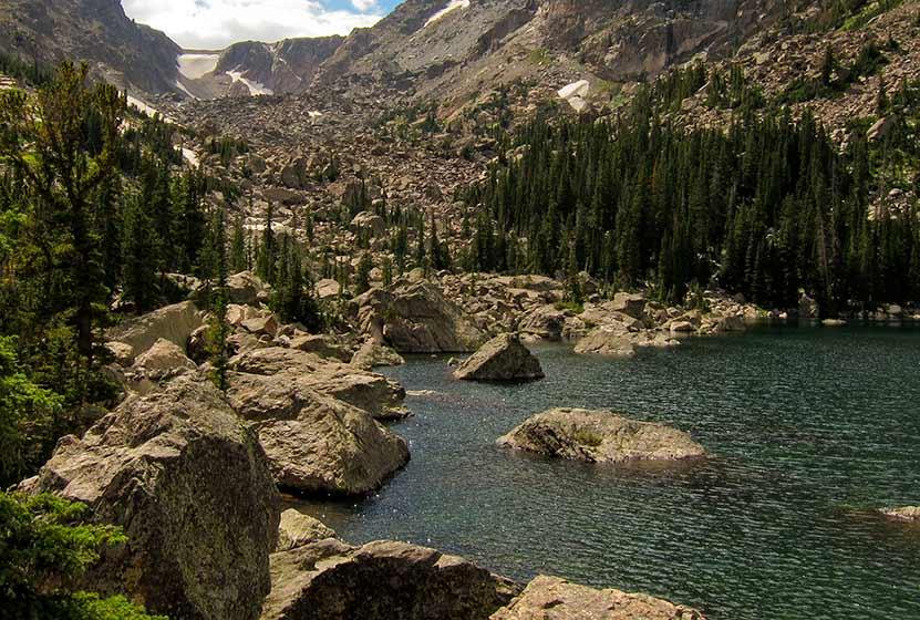 lake haiyaha rocky mountain national park header