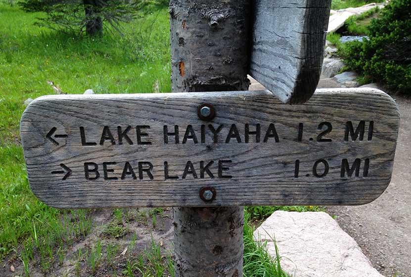 lake haiyaha trailhead