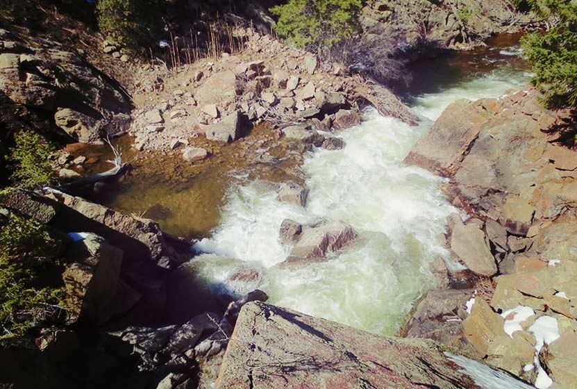 looking-down-onto-eldorado-falls-walker-ranch