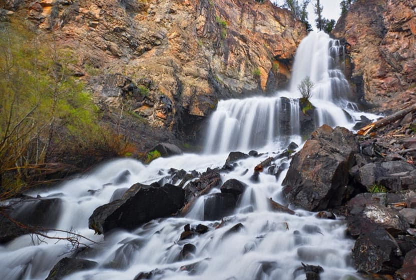 Silver Falls Near Pagosa Springs, Colorado