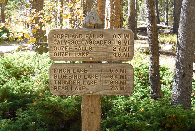 copeland falls rocky mountain national park wild basin trailhead