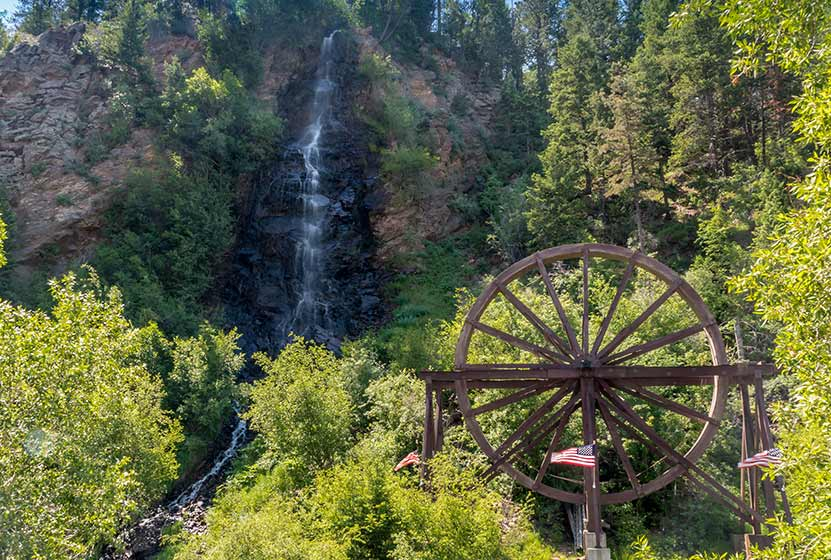 Bridal Veil Falls in Idaho Springs