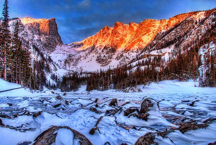 10 winter hiking tips hallett peak dream lake