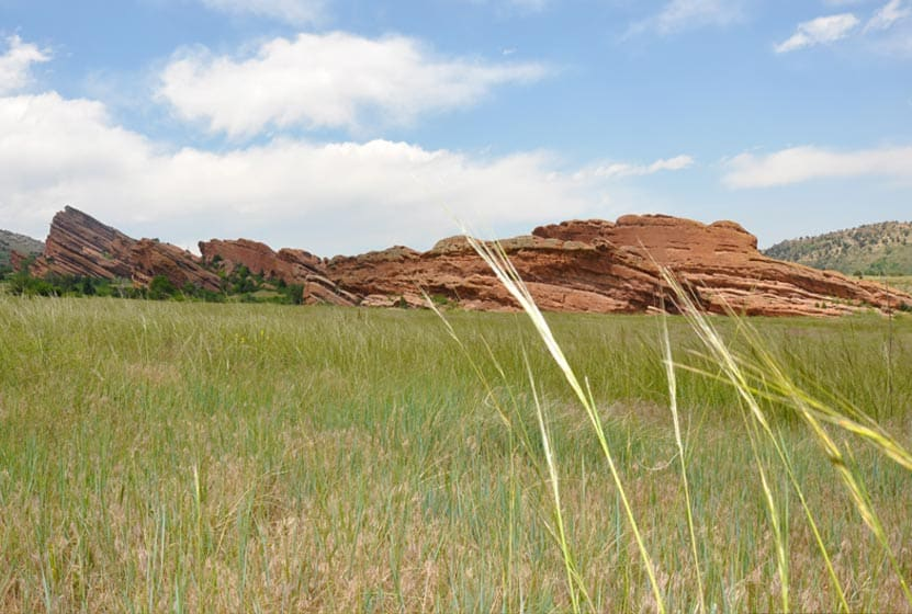 Red Rocks Park in Morrison Colorado with hiking trail