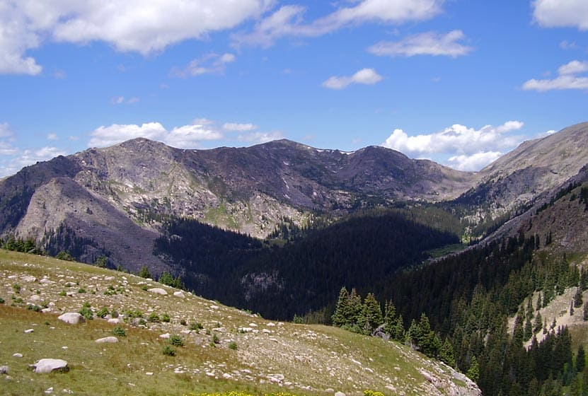 West Side of Rocky Mountain National Park deep in mountains near Denver
