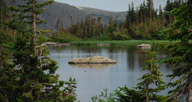 diamond lake in indian peaks wilderness on hike near denver