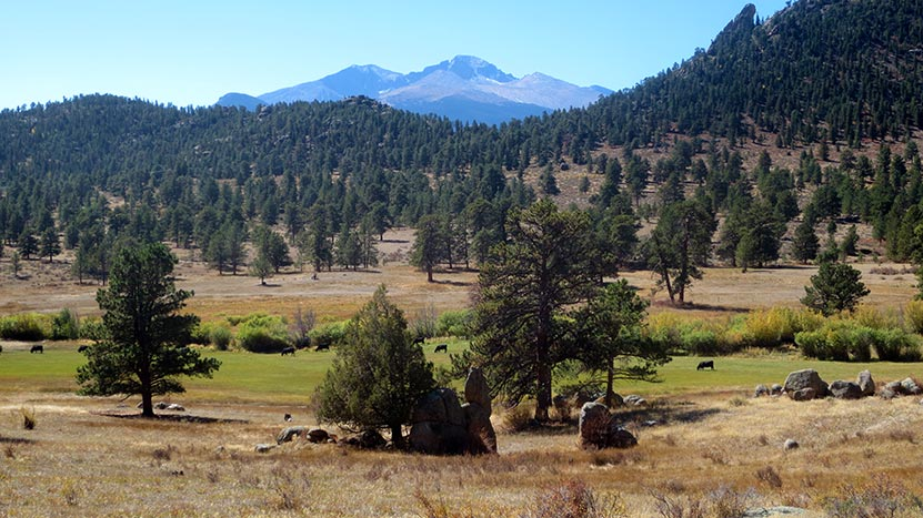 view of longs peak from lumpy ridge