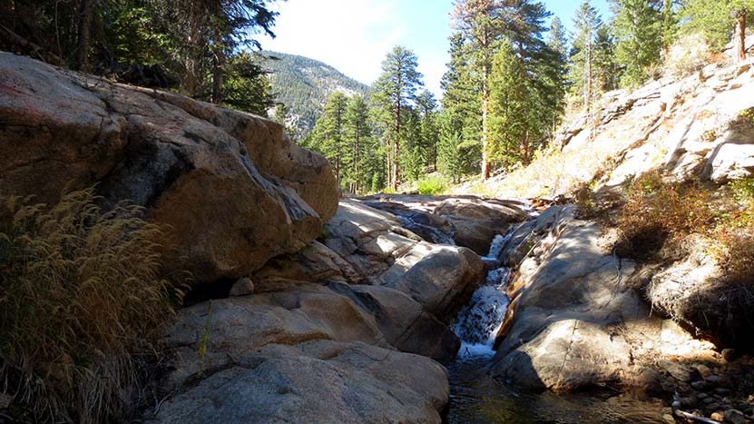 creek in black canyon of mcgregor falls waterfall ocky mountain national park