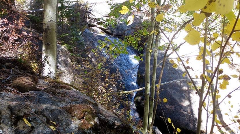 mcgregor falls waterfall ocky mountain national park