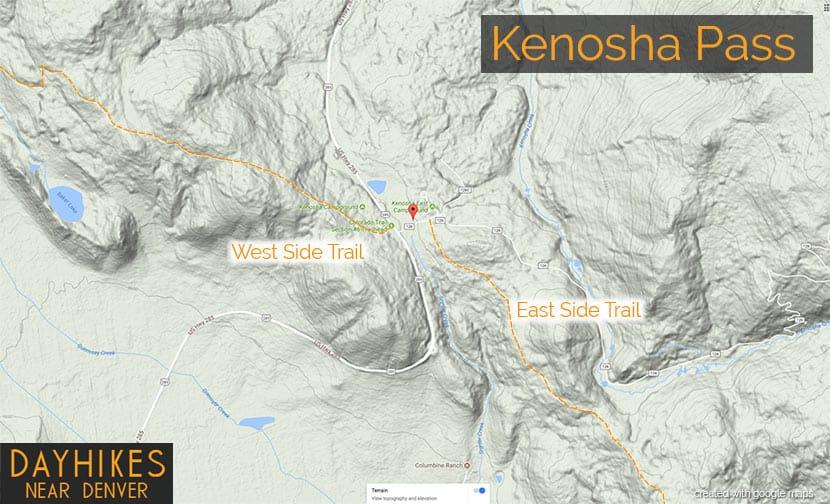 kenosha pass map