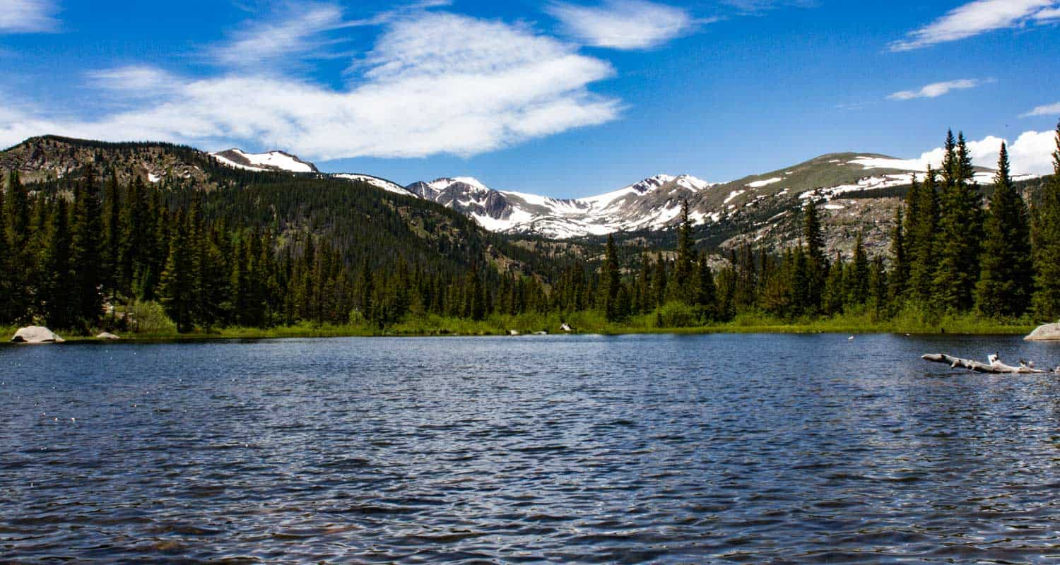 lost lake near nederland colorado with indian peaks mountains in background