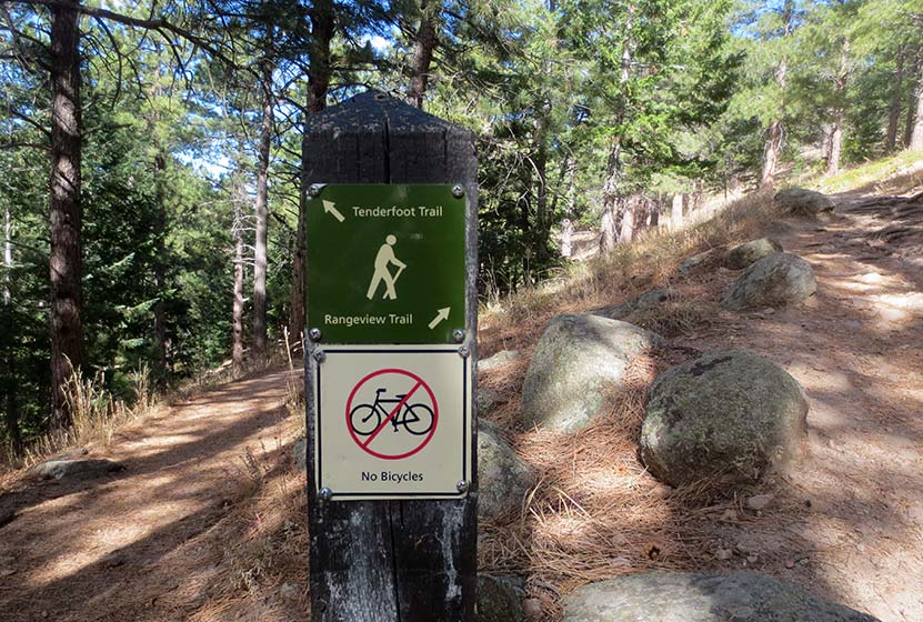 trail junction at realization point