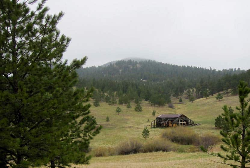 old sawmill ruins at meyer homestead in boulder colorado