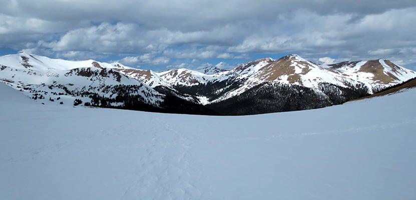 snowy peaks at butler gulch in spring