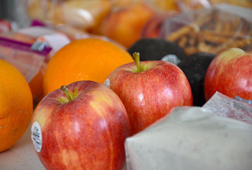 apples oranges avacados  easy camping meals