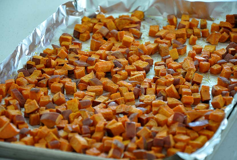 sweet potato fries on backing sheet easy camping meals