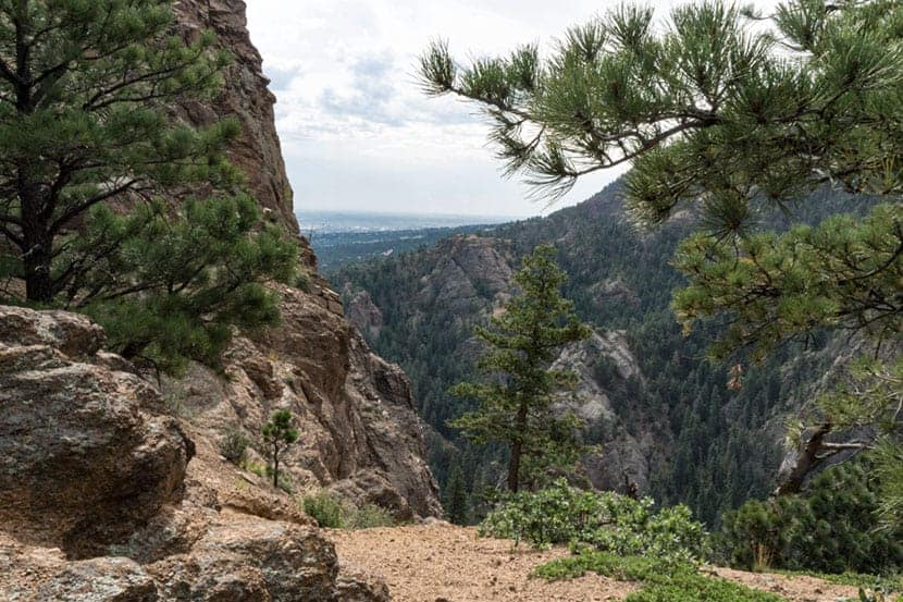 trail up to mount cutler near colorado springs