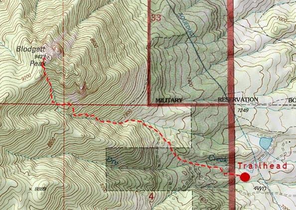 usgs topo map of blodgett peak near colorado springs