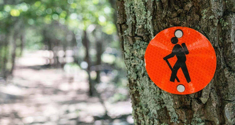 denver area trail closures red hiking blaze on tree alongside trail