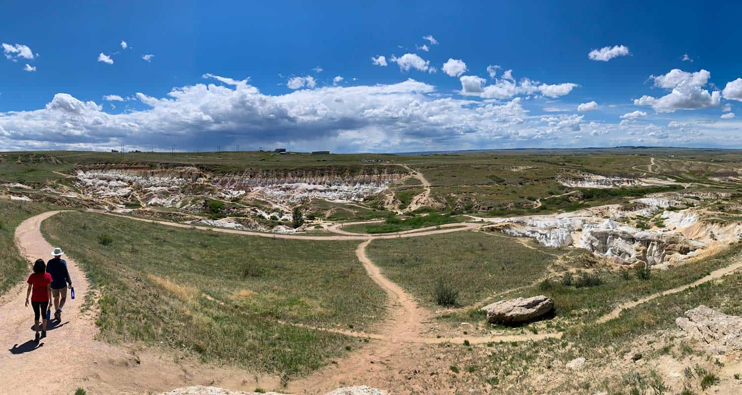 panorama of trail network at paint mines near calhan