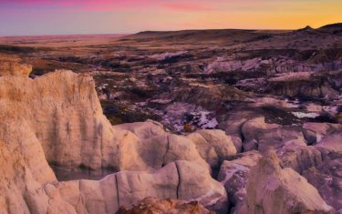 paint mines near colorado springs with gullies and eroded rock landscape