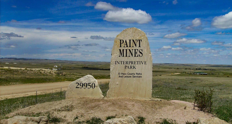 paint mines interpretive park main entrance sign