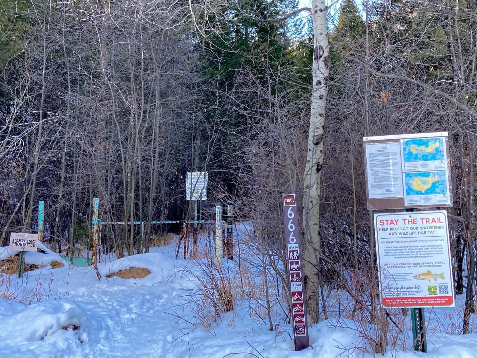 Mt. buckhorn trail junction 666
