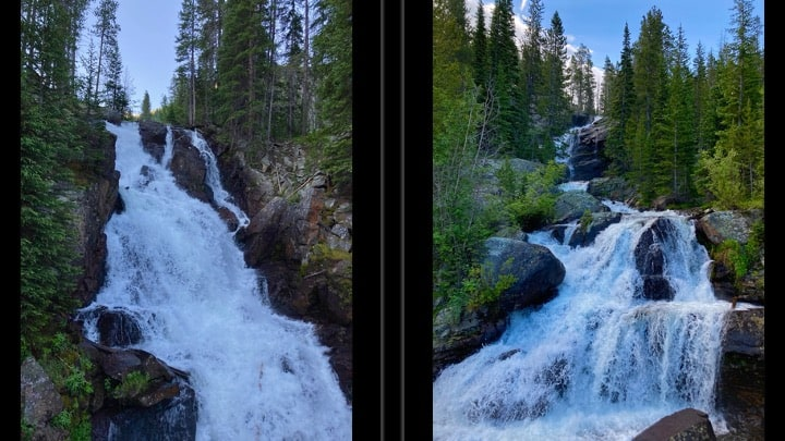 waterfall on way to crater lake