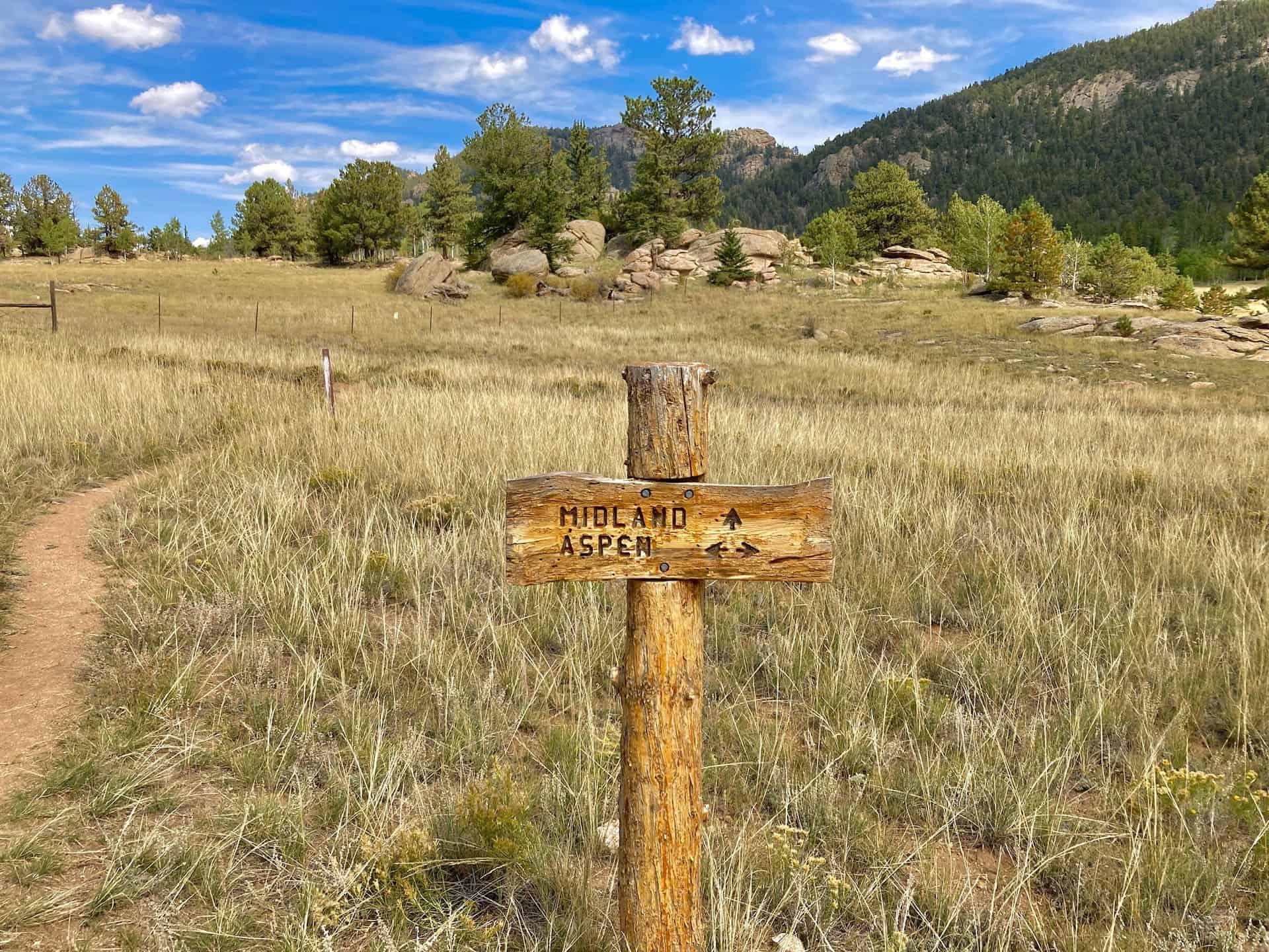 midland trail sign